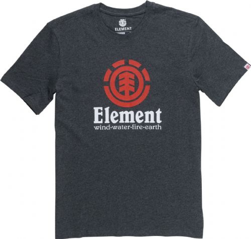 ELEMENT MENS T SHIRT.VERTICAL GREY COTTON SHORT SLEEVED SKATER TOP TEE 8W 5 519